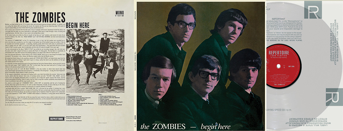 Repertoire Records Zombies The Begin Here