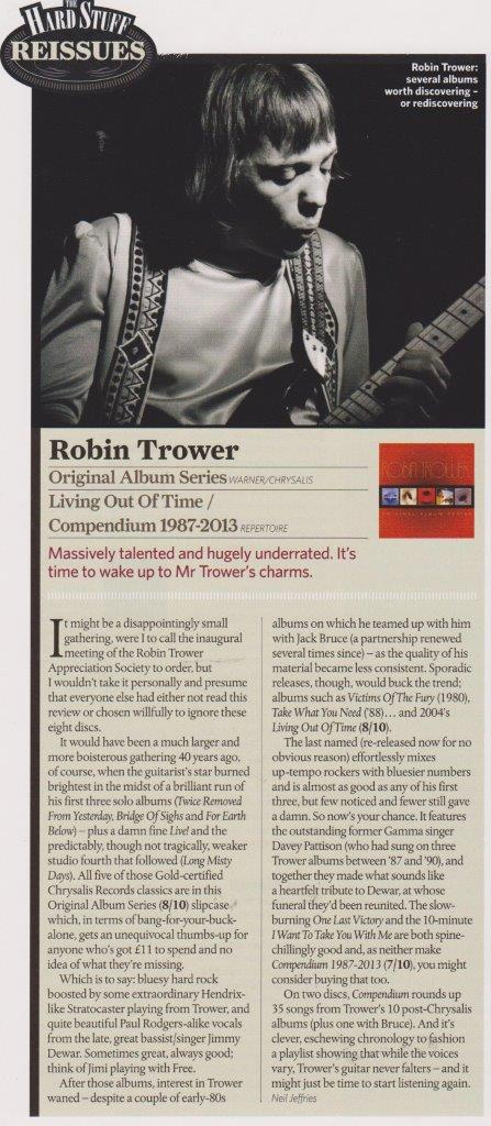 Robin Trower Classic Rock May 2014