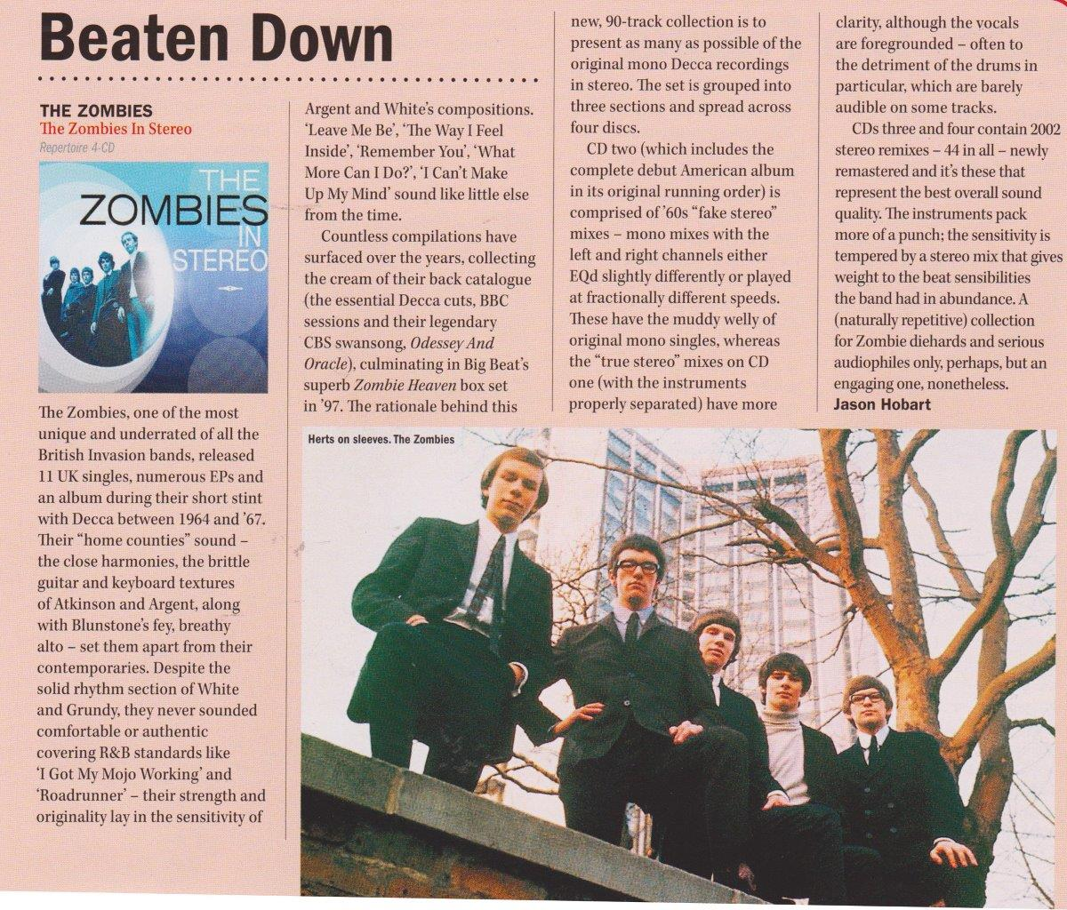 The Zombies Shindig magazine Issue 38 March 2014