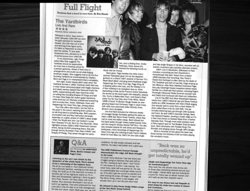 Record Collector Magazine Reviews The Yardbirds – Live and Rare