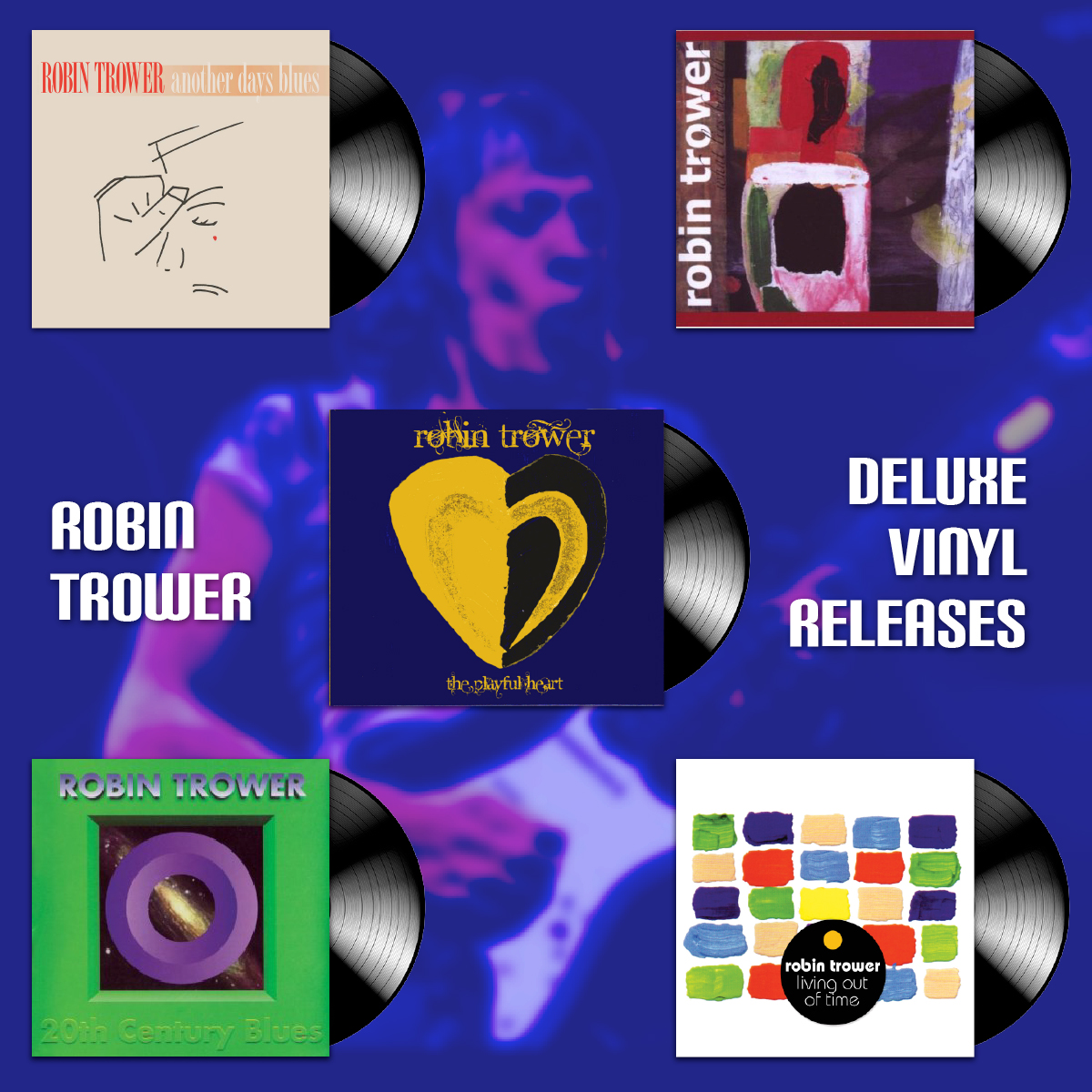 Robin Trower – 5 New Releases on Deluxe Vinyl
