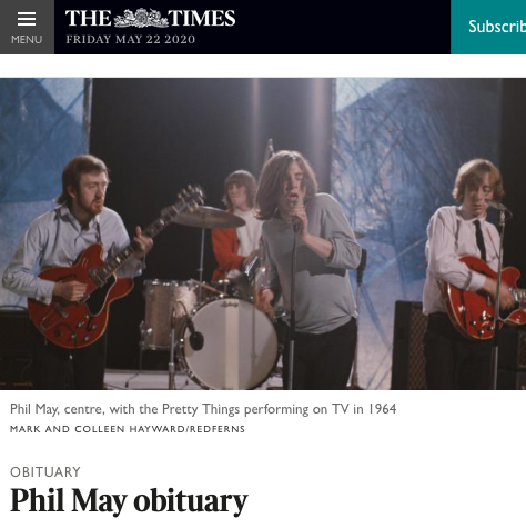 Phil May Obituary - The Times