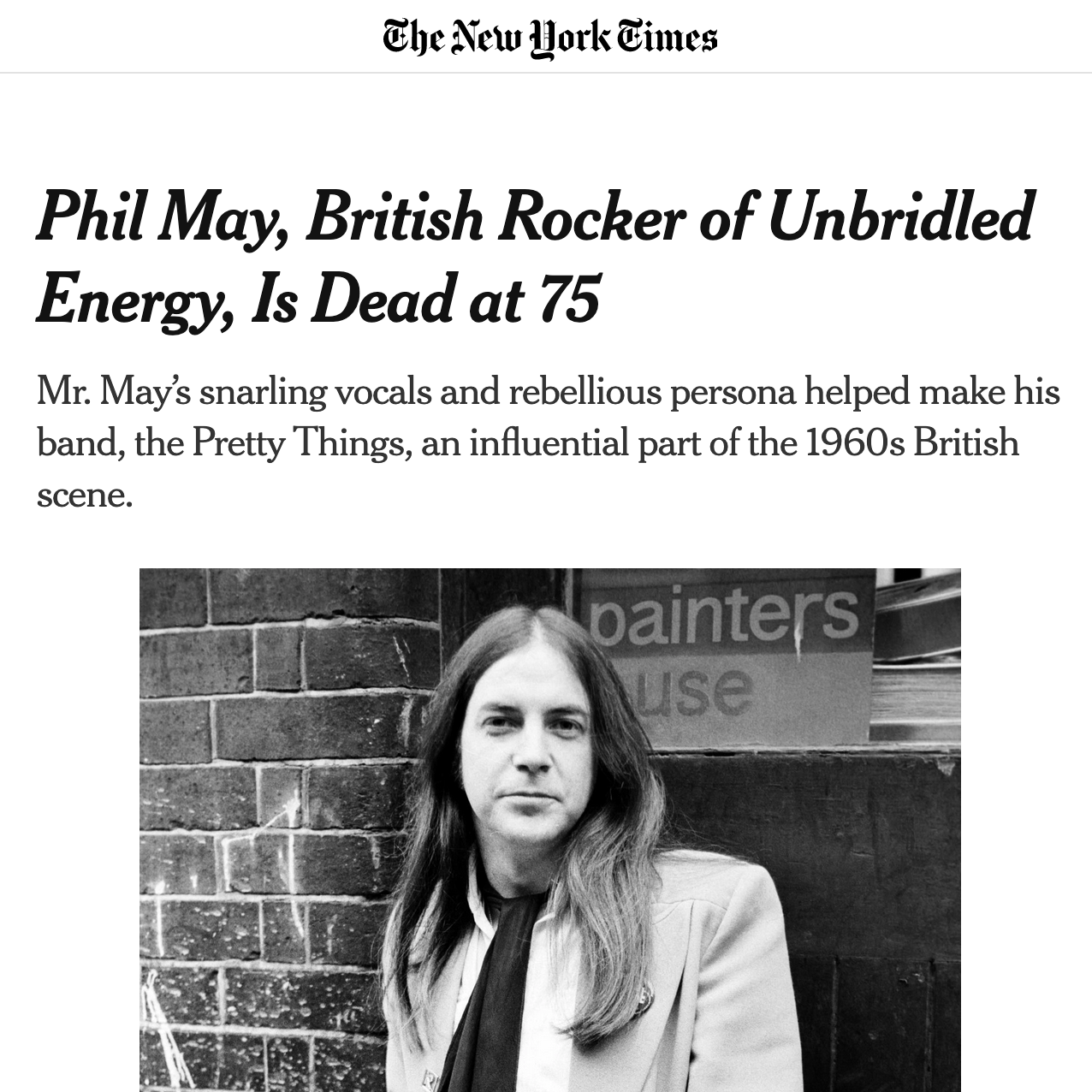 Phil May Obituary - New York Times